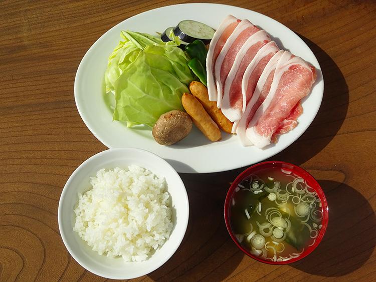 豚ロース焼き定食